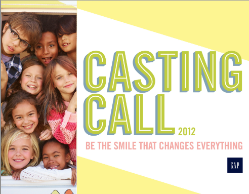 The Gap casting call 2013