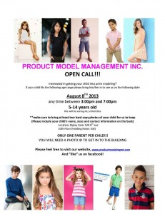 Baby modeling auditions and casting call