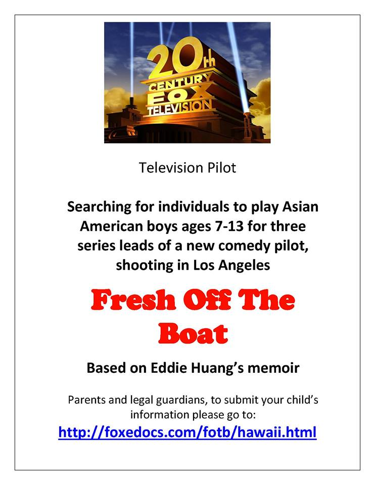 Open auditions for kids for TV Pilot