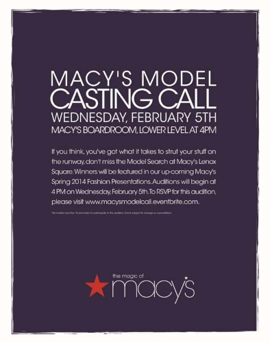2014 Model search and casting call